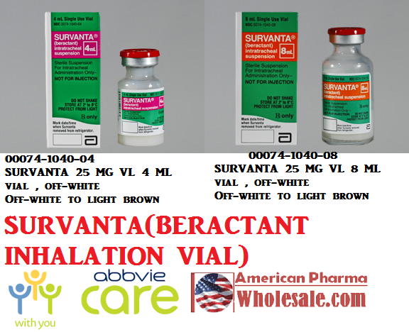 RX ITEM-Survanta 25Mg/Ml Vial 4Ml By Abbvie Pharma
