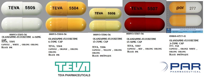 RX ITEM-Olanzapine-Fluoxetine 12Mg 25Mg Cap 30 By Par Pharma