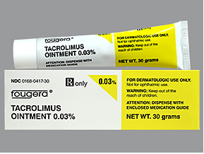 Rx Item-Tacrolimus 0.03% Ointment 30gm By Fougera Pharma
