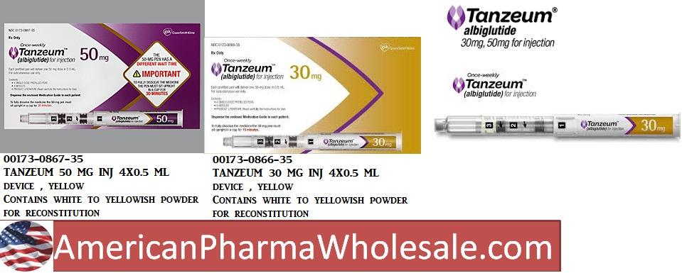 Rx Item-Tanzeum 30mg 0.5ml Inj 4X0.5ml By Glaxo Smith Kline  Rx