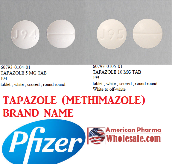 RX ITEM-Tapazole 10Mg Tab 100 By Pfizer Pharma