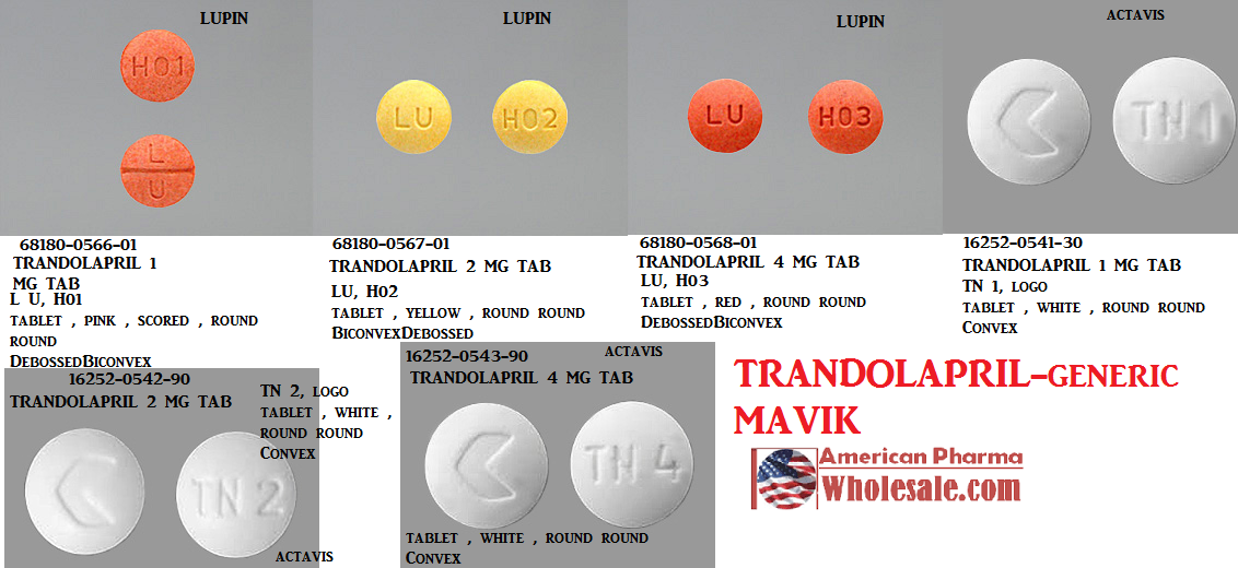 Rx Item-Trandolapril 1mg Tab 100 By Lupin Pharma