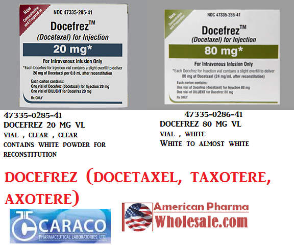 RX ITEM-Docefrez 80Mg Vial By Caraco Pharma