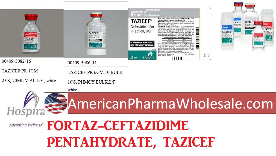RX ITEM-Tazicef 1 Gm Adv 25 By Hospira Worldwide