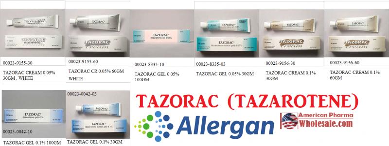 RX ITEM-Tazorac 0.05% Cream 30Gm By Allergan Pharma