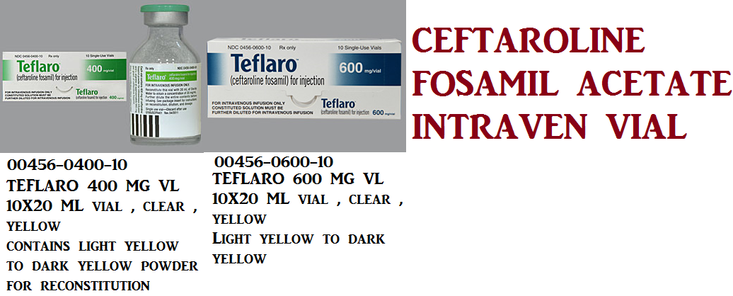 RX ITEM-Teflaro 400Mg Vial 10X20Ml By Actavis Pharma