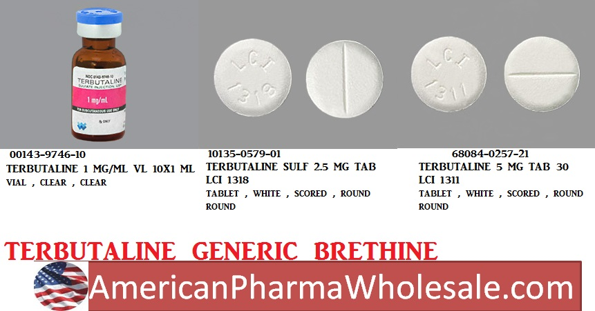 RX ITEM-Terbutaline 1Mg/Ml Vial 10X1Ml By Athenex Pharma