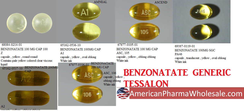 '.Tessalon 200Mg Cap 100 By Pfizer Pharma.'