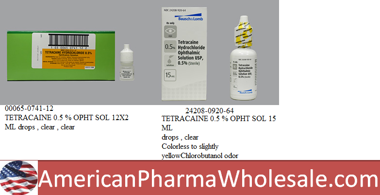 RX ITEM-Tetracaine 0.5% Drops 15Ml By Valeant