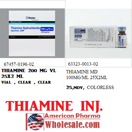 Thiamine 100mg/ml Vial 25X2ml by Mylan Institutional