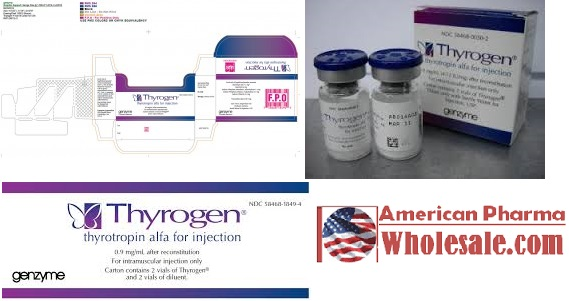 RX ITEM-Thyrogen 1.1Mg Vial 2 Thyrotropin Alfa Intramusc Vial 1.1 Mg By Theracom