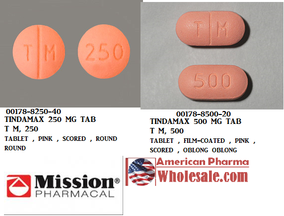 RX ITEM-Tindamax 250Mg Tab 40 By Mission Pharmacal