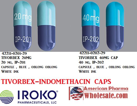 RX ITEM-Tivorbex 20Mg Cap 90 By Iroko Pharma