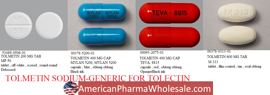 RX ITEM-Tolmetin 600Mg Tab 100 By Mylan Pharma