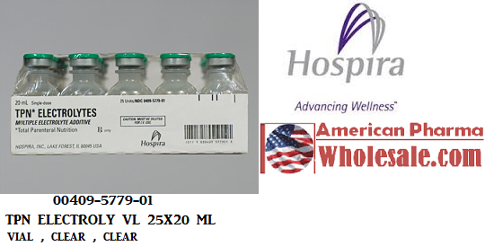 RX ITEM-Tpn Electrolyte 35 20 5Meq Vial 25X20Ml By Hospira Worldwide