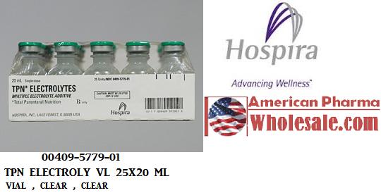 TPN Electrolyte 35 20 5Meq Vial 25X20ml by Hospira Worldwide