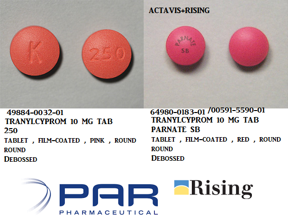 RX ITEM-Tranylcypromine 10Mg Tab 100 By Rising Pharma
