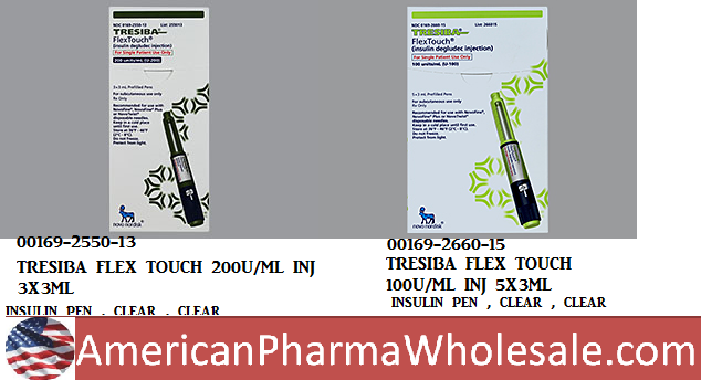 RX ITEM-Tresiba insulin degludFlex Touch 200U/Ml Inj 3X3Ml By Novo Nordisk Pharm