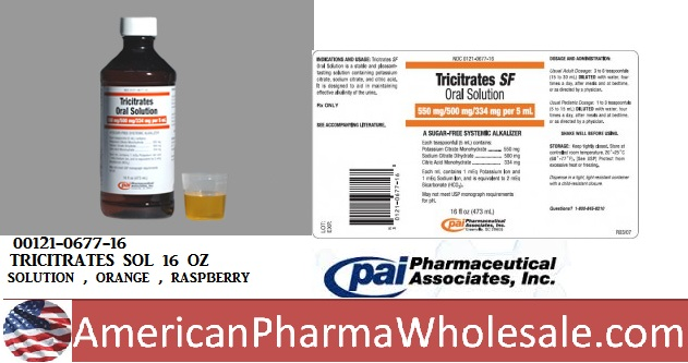 RX ITEM-Tricitrates 500 550 5 Solution 16 Oz By Pharma Assoc