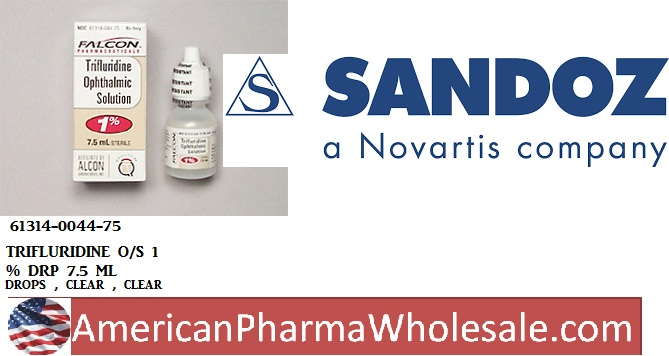 RX ITEM-Trifluridine O-S 1% Drops 7.5Ml By Sandoz Falcon Pharma