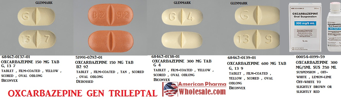 Oxcarbazepine 150mg Tab 100 by Caraco Pharma Exp 1/19
