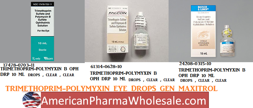Rx Item-Trimethoprim Polymyxin B Drops 10ml By Sandoz Falcon Pharma