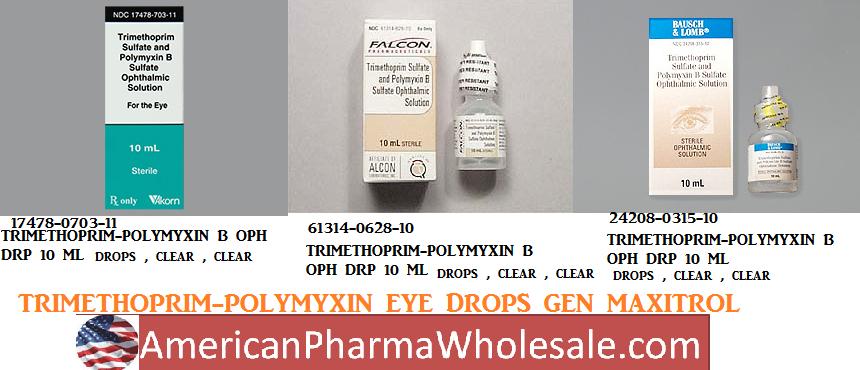 Polymyxin b sulfate trimethoprim dosage