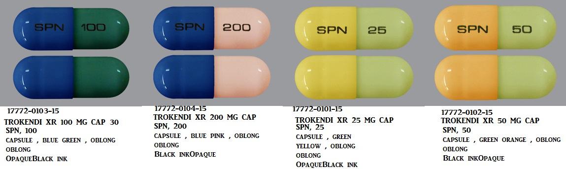 Trokendi XR 100mg Cap 100 by Supernus Pharma