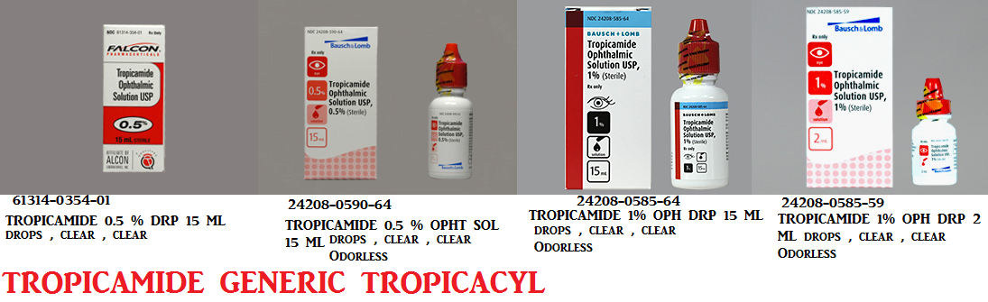 Rx Item-Tropicamide 0.5% Drops 15ml By Sandoz Falcon Pharma