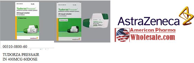 RX ITEM-Tudorza Pressair 400Mcg 60 Inhaler By Astra Zeneca Pharma