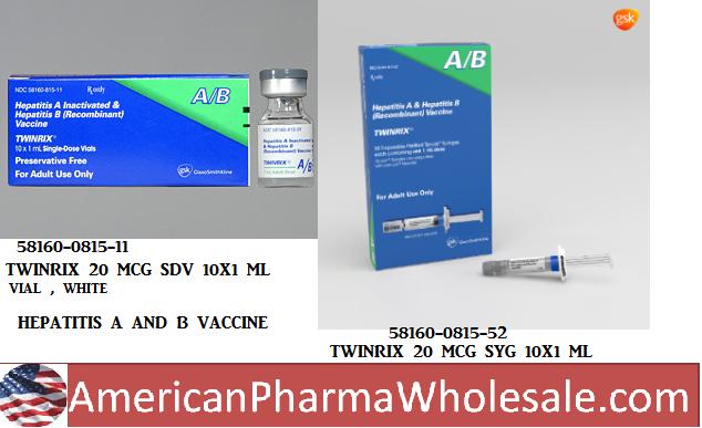 RX ITEM-Twinrix 720 20 Ml Syringe 10X1Ml By Glaxosmithkline Vaccines