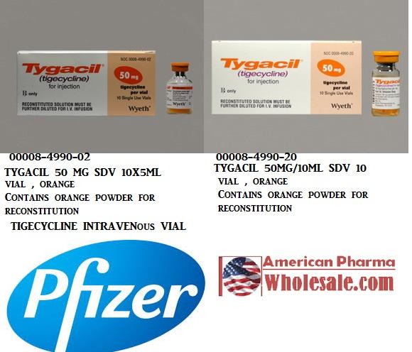 RX ITEM-Tygacil 50 Mg Single Dose Vial  10X5Ml By Pfizer Pharma