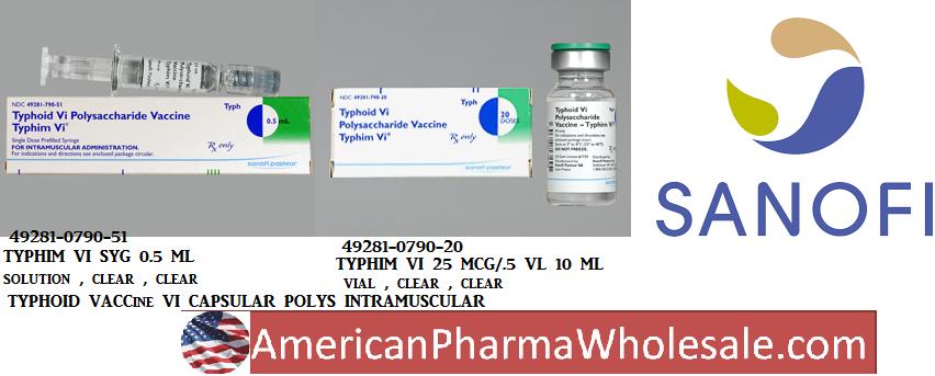 RX ITEM-Typhim Vi 25Mcg 0.5 Vial 10Ml By Sanofi Pasteur