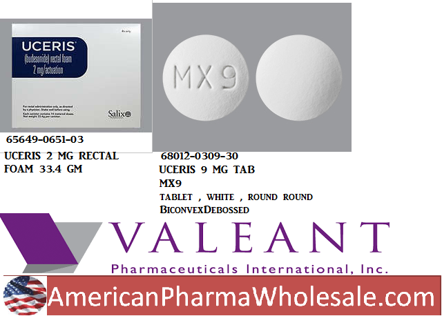 Uceris 9mg Tab 30 by Valeant Pharma