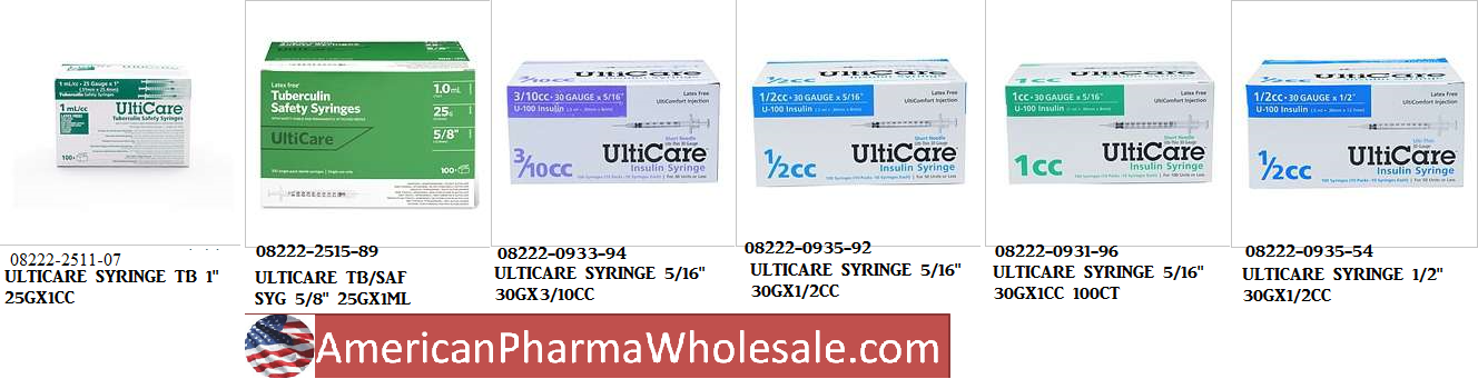 RX ITEM-Ulticare Syringe 1.5 22Gx1.5CC 100Ct By Ultimedrx Item