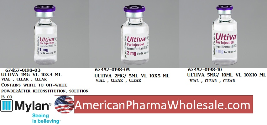 RX ITEM-Ultiva 1Mg Vial 10X3Ml By Mylan Institutional Narc