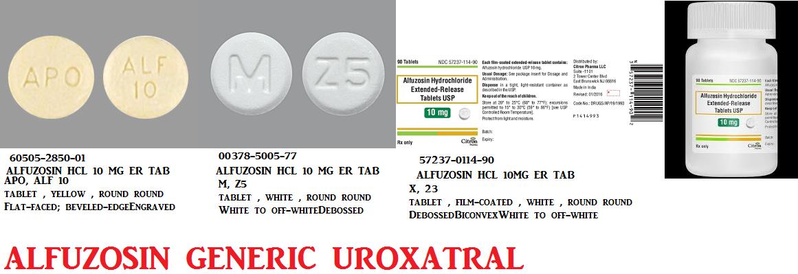 Rx Item-Alfuzosin 10mg Tab 100 By Camber Pharma