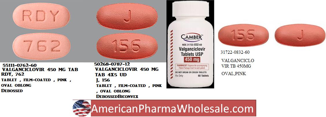 Valganciclovir 450mg Tab 60 by Aurobindo Pharma EXP 9/19