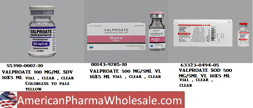 RX ITEM-Valproate 500Mg/5Ml Vial 10X5Ml By Bedford Labs
