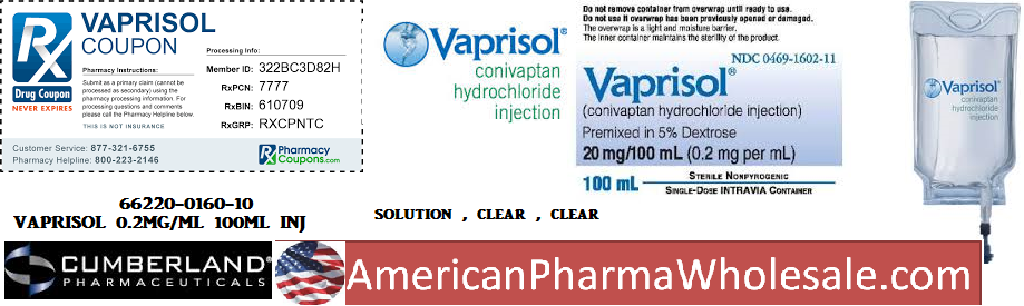 RX ITEM-Vaprisol 20Mg 100Ml Bag 100Ml By Cumberland Pharma