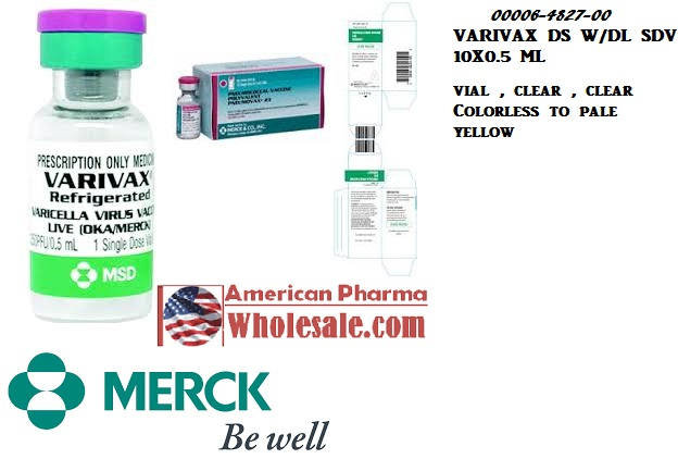 RX ITEM-Varivax 1350 Unit Vial 10X0.5Ml By Merck