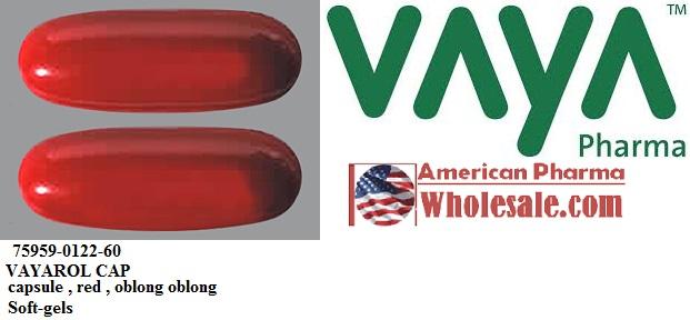 RX ITEM-Vayarol 0.63 232.5 Cap 60 By Vaya Pharma