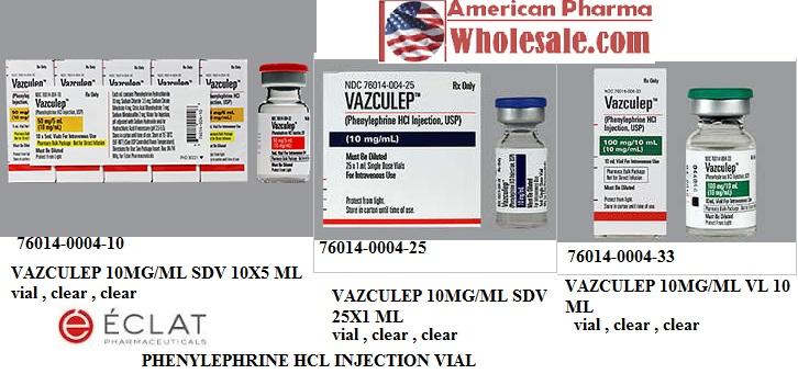 RX ITEM-Vazculep 10Mg/Ml Vial 10Ml By Eclat Pharma