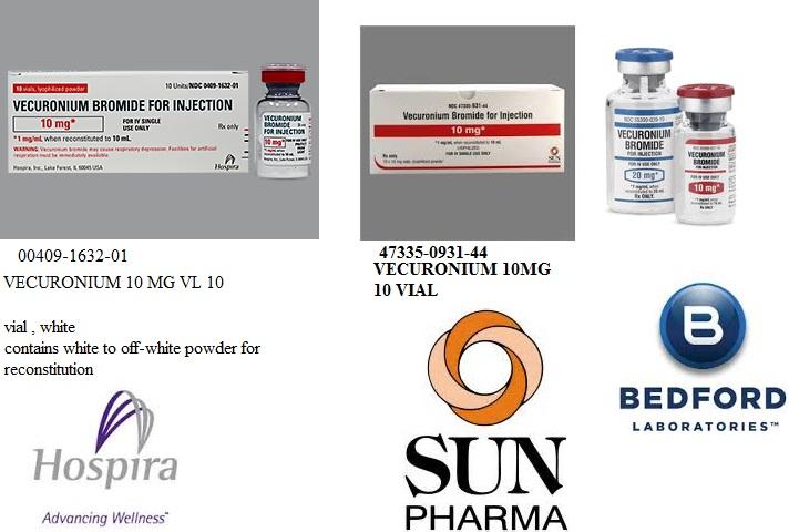 Rx Item-Vecuronium 10mg Vial 10 By Sun Pharma