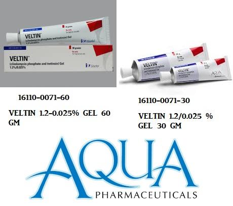 RX ITEM-Veltin 1.2 0.025% Gel 30Gm By Aqua Pharma