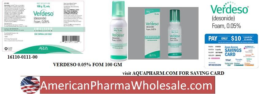 RX ITEM-Verdeso 0.05% Foam 100Gm By Aqua Pharma