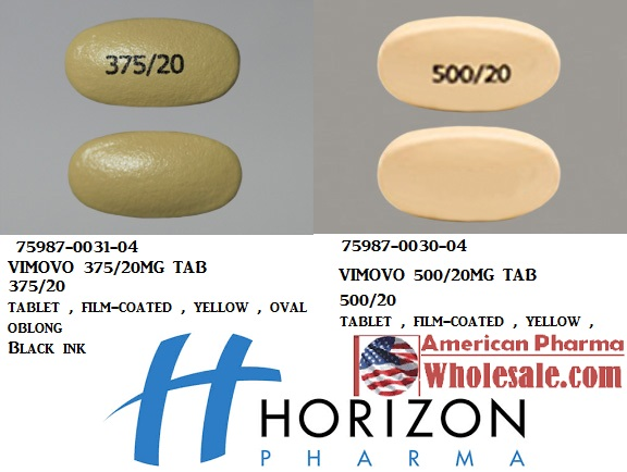 RX ITEM-Vimovo 375Mg/20Mg Tab 60 By Horizon Pharma