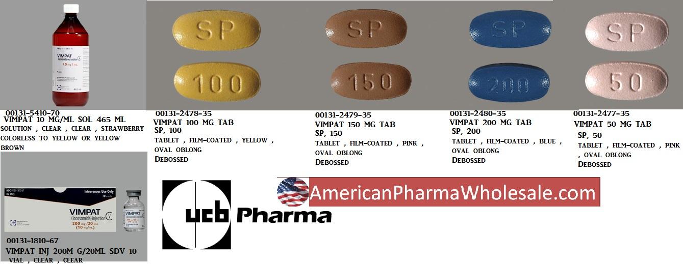RX ITEM-Vimpat 100Mg Tab 60 By Ucb Pharma