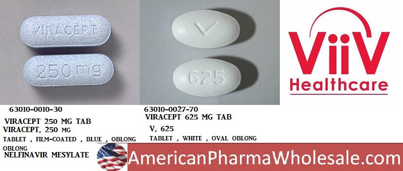 RX ITEM-Viracept 250Mg Tab 300 By Viiv Healthcare