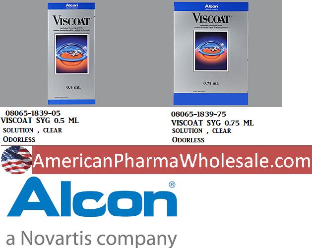 RX ITEM-Viscoat 40 30Mg/Ml Syringe 0.5Ml By Alcon Lab